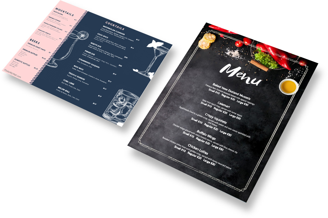 postermywall menu flyers