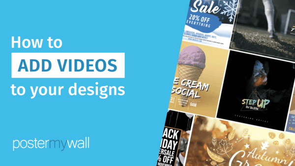 Como adicionar vídeos ao seu design
