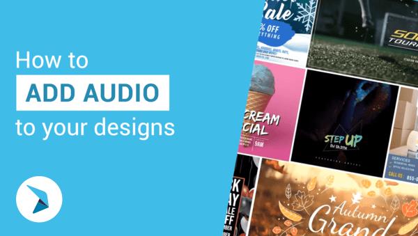 Como adicionar áudio aos seus designs